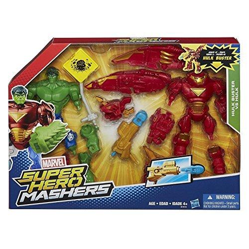 Marvel Super Hero Smasher's DX Action Figure 2 Pack Hulk Buster Iron Man VS Hulk / MARVEL SUPER HERO MASHERS HULKBUSTER IRON MAN [parallel import goods] AVENGERS Avengers
