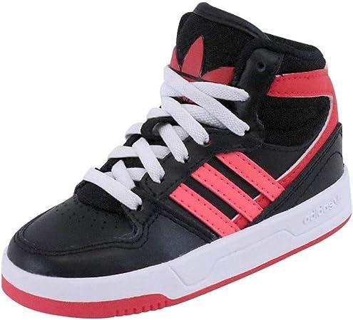 Adidas Originals COURT ATTITUDE EI Black Red Junior Sneakers Shoes ...