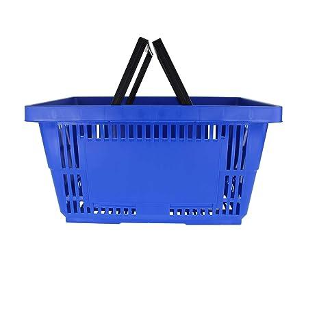 Amazon.com: Plástico cestas de la compra de W/asas ...