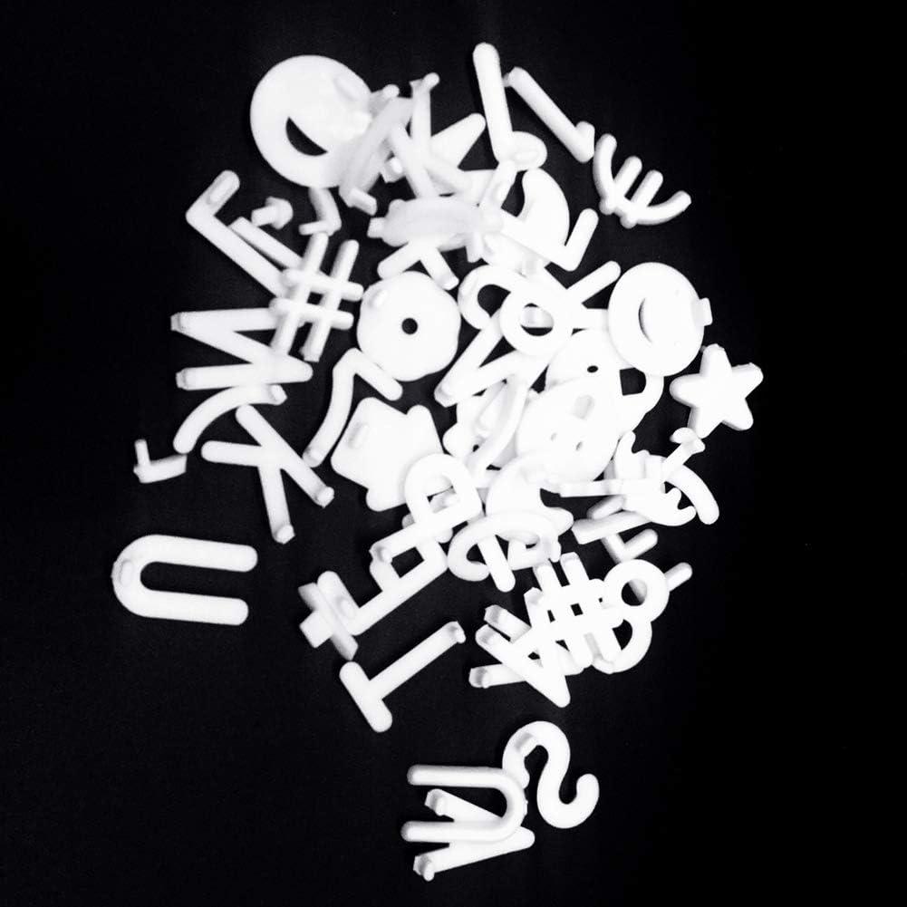 einschlie/ßlich Zahlen 340 Zeichen White Letter Set f/ür Briefk/ästen aus ver/änderbarem Filz Buchstaben Symbolen 3//4-Zoll-Briefe mit Geschenkt/üte