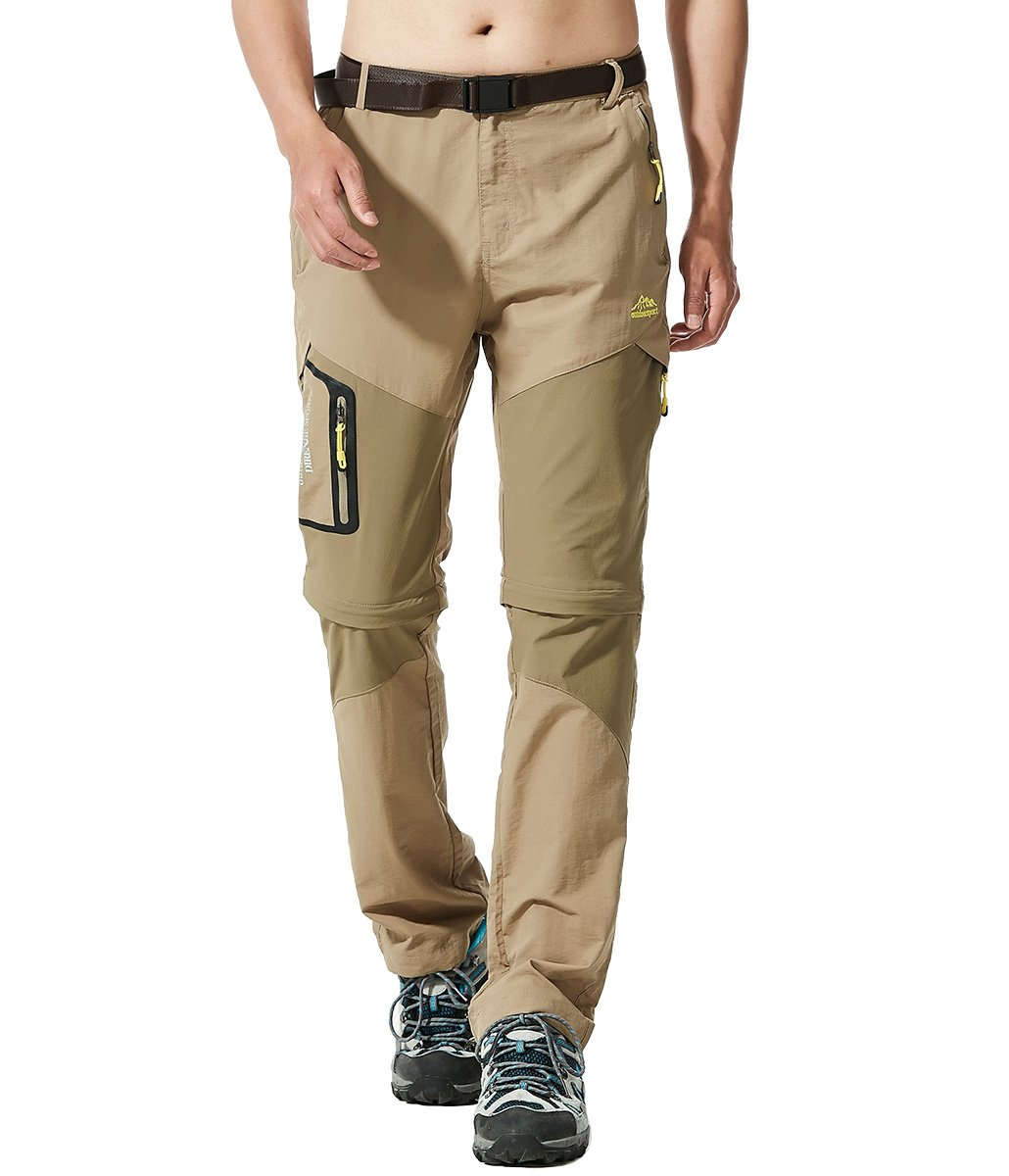 MAGCOMSEN Men's Outdoor Quick Dry Waterproof Hiking Slim Fit Pants with Belt MCS-49