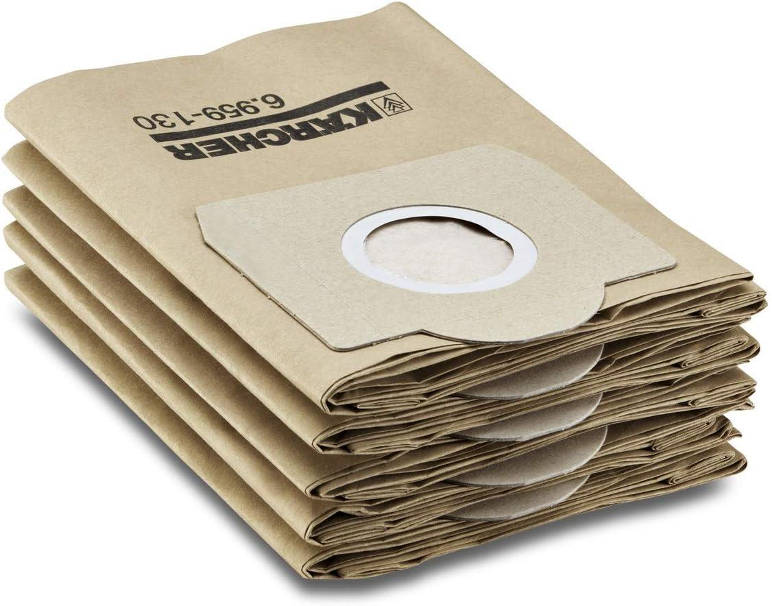 5 St CK f r WD 3 Karcher Papierfilterbeutel