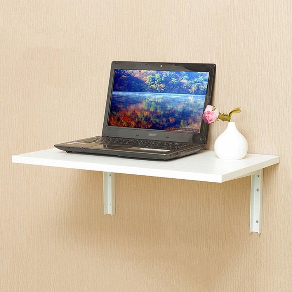 NAN 折りたたみテーブルウォールシェルフ壁の机で2色使用可能サイズオプション ワークベンチ (色 : 白, サイズ さいず : 80*50cm) B07F8QJ69T 80*50cm|白 白 80*50cm