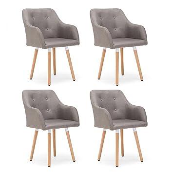 Tatayang 4er Set Esstisch Stühle Stuhl Esszimmerstühle