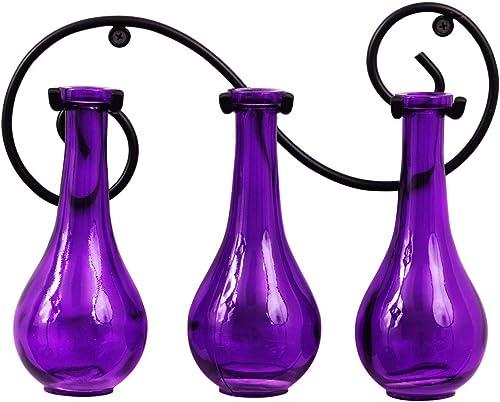Couronne Company M334-6514G21 Triple Drop Bottle Wall Sconce, 8 oz3, Violet, 1 Piece