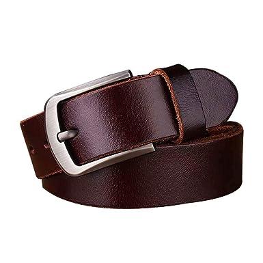 FLYWM, Cinturon Hombre Cuero Piel Hebillas Jeans Reversible ...