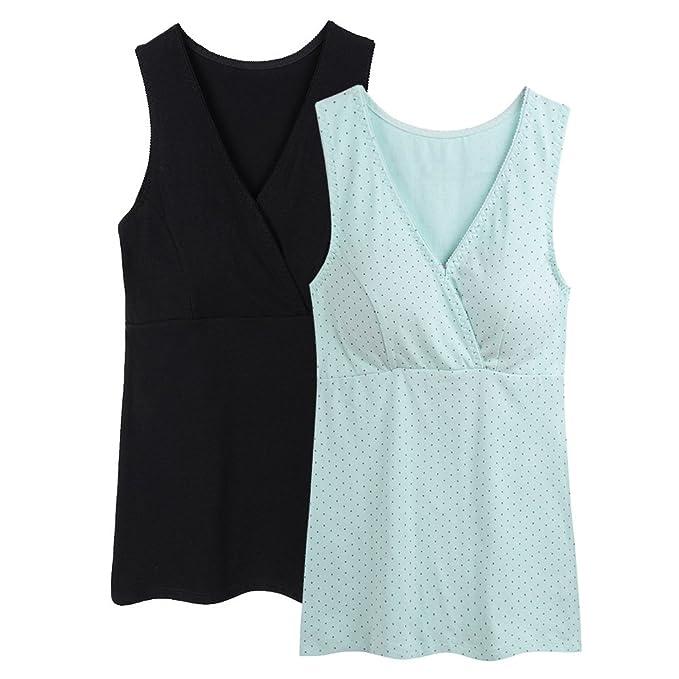 ZUMIY Chaleco de Maternidad Tank de Lactancia Sujetador para Camiseta para Mujer/Top Premamá: Amazon.es: Ropa y accesorios