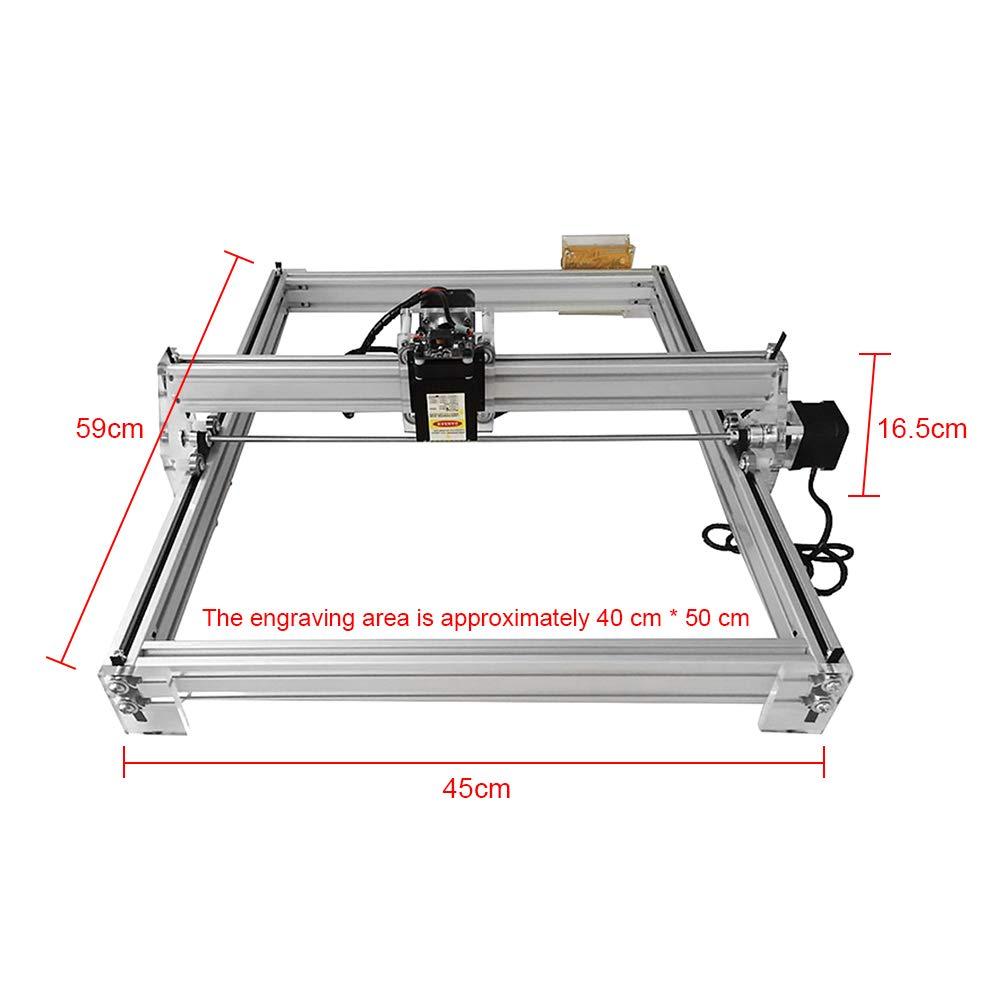 TOPQSC 2500mW 50x40cm Kit de m/áquina de grabado l/áser CNC 12V USB M/áquina de corte de grabado de talla de madera Impresora de escritorio con logotipo de bricolaje Impresora de marcado de imagen