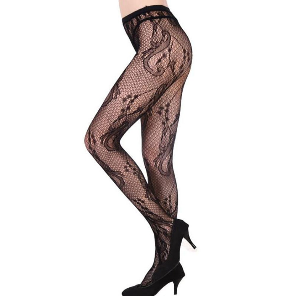 4c196b2404c Vin beauty Sexy Mesh Fishnet Stocking Jacquard Pantyhose High Tights Garter Hot  Fashion at Amazon Women s Clothing store