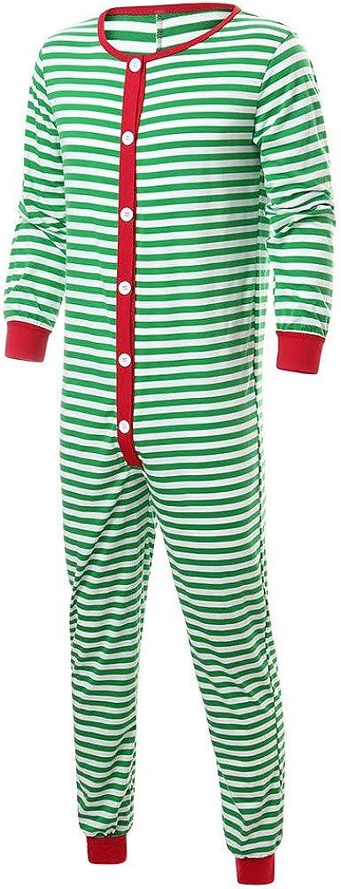 Pijamas De Rayas De Navidad A Juego En Familia Hombres Ropa ...