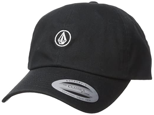 c280ce0c Volcom Womens E5511802 Good Mood Adjustable Dad Hat Baseball Cap - Black -  One Size