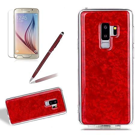 girlyard purpurina Carcasa de silicona para Galaxy S9, suave TPU ...