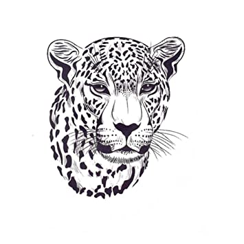 Just Fox – Tatuaje temporal, diseño de tigre, adhesivo temporal ...