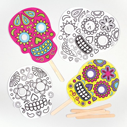 Day of the Dead Halloween Color-in Masks for Children to Color and Embellish (Pack of (Days To Halloween)