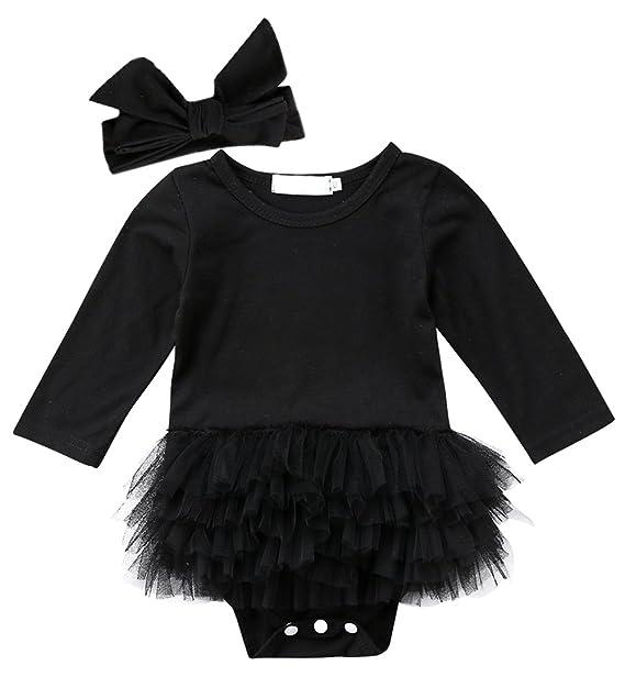 Amazon.com: threec bebé recién nacido niñas Little vestido ...