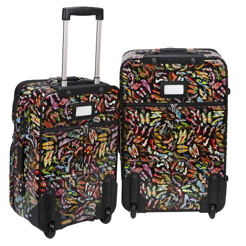 Sydney Love 2 Piece Rolling Luggage Set, Stepping Out Print ,One Size by Sydney Love (Image #3)