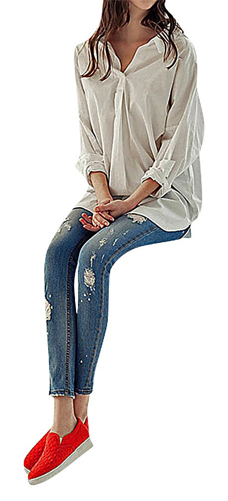 US&R, Women's Medium Blue Washed Ripped Cropped Secret Fit Belly Maternity Jeans, Blue 10 ,Manufacturer(XXL)
