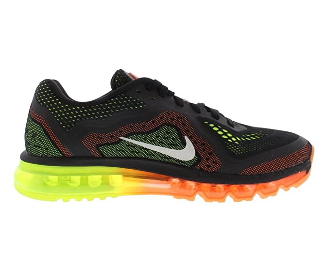 save off 1d836 fd7d7 Amazon.com   Nike Air Max 2014 Mens Black Sail Atomic Orange Volt Running  Sneakers   Road Running