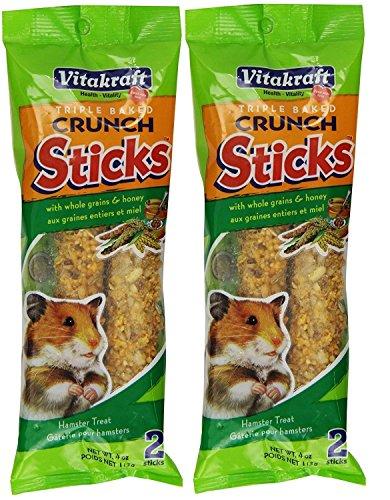 - Vitakraft Hamster Whole Grains & Honey Treat Sticks, 4 Count