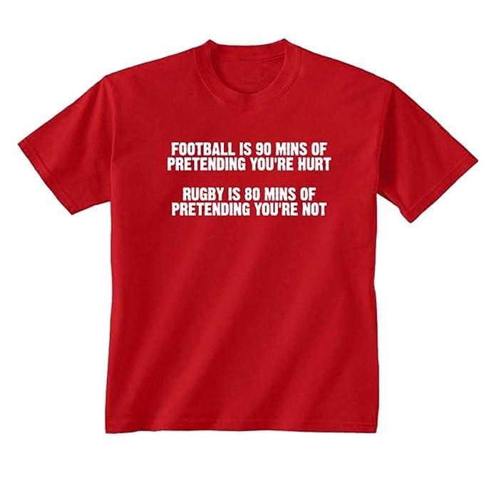 Youth de balón de fútbol para niños de los deportes de Rugby texto T- camiseta