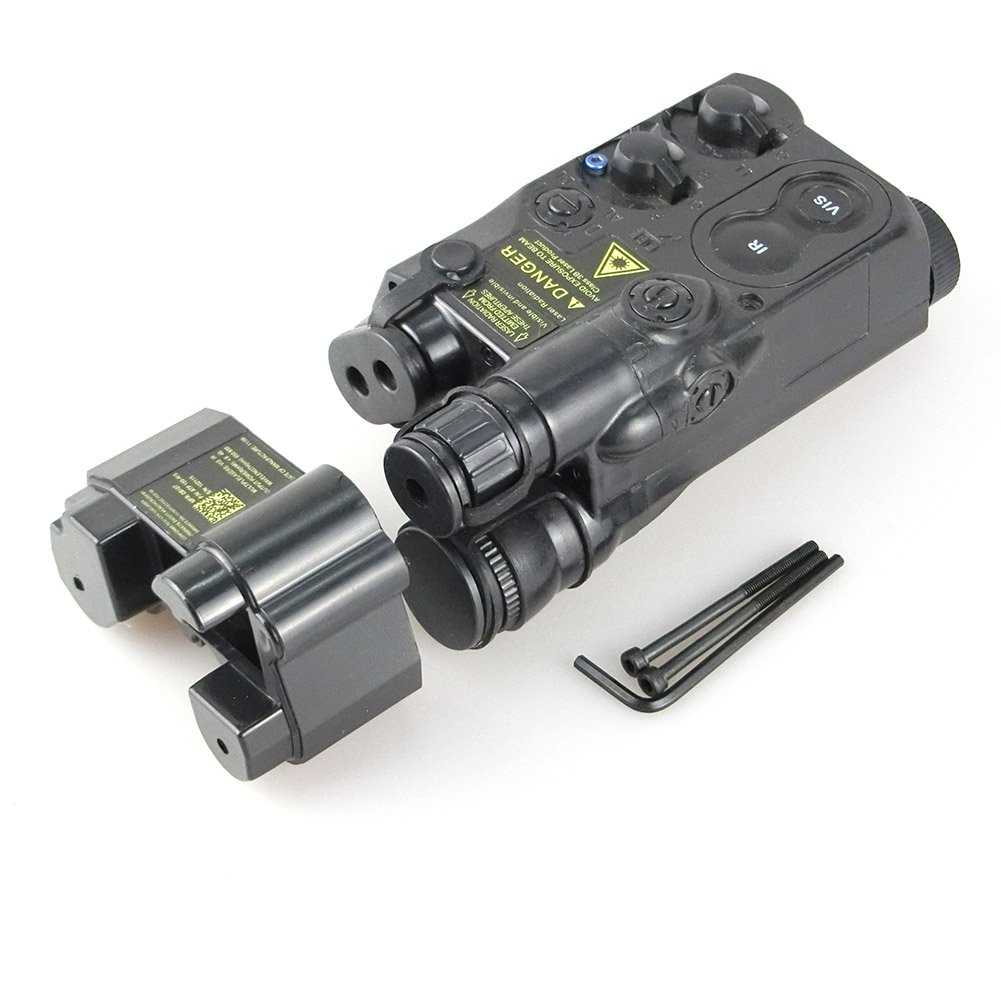 ATAIRSOFT Tactical Airsoft PEQ16 Caja de bater/ía Black Dummy AEG Con RIS Mount Black EX1402