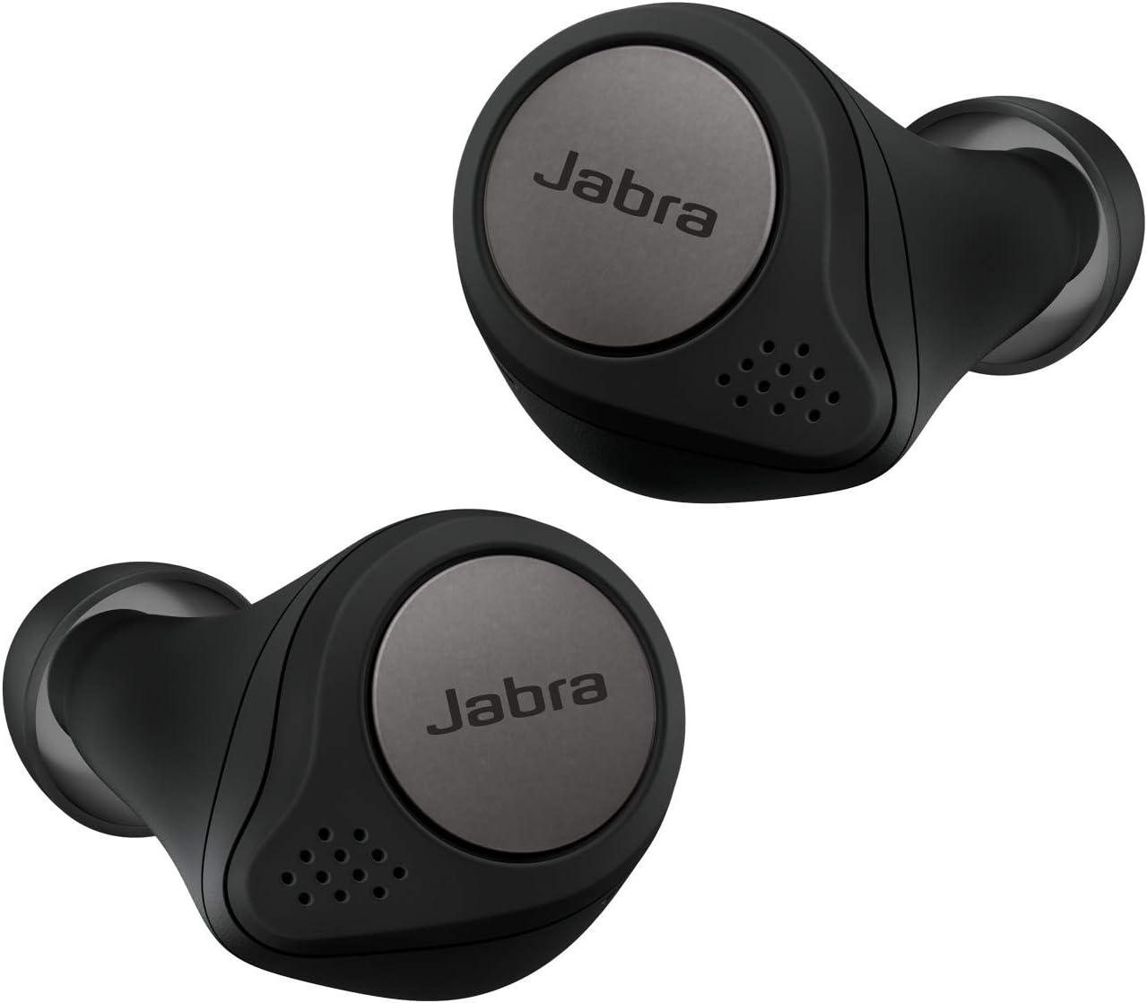 Jabra Elite Active 75t - Auriculares inalámbricos para deporte (Bluetooth 5.0, True Wireless), Negro y Titanio