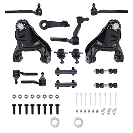 CATUO Complete 14-Piece Front Suspension Kit for Chevrolet Blazer S10 GMC  Jimmy Sonoma -2 Upper Control Arm, All 4 Ball Joint, 6 Tie Rod, 2 Sway Bar