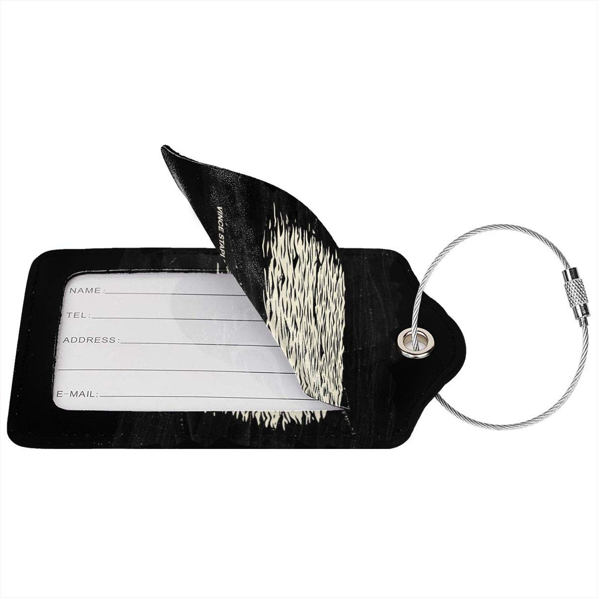 Vince Staples Summertime Leather Luggage Tag Travel ID Label For Baggage Suitcase
