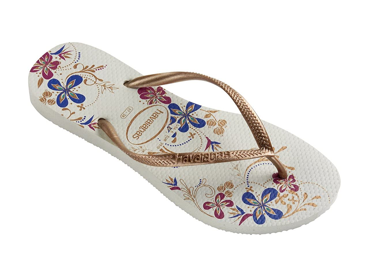 ee7f09dea4cc9 Womens Havaianas Slim Season White Rose Gold Flip Flops Sandals   Amazon.co.uk  Shoes   Bags