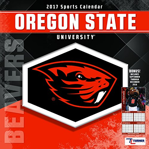"Turner Licensing Sport 2017 Oregon State Beavers Team Wall Calendar, 12""X12"" (17998011815)"