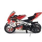 SYX MOTO Apex Pocket Bikes 2 Stroke 49CC Mini Dirt Bike Kids Gas Powered Pocket Rocket Motorcycle,Pull Start,Black(Two models