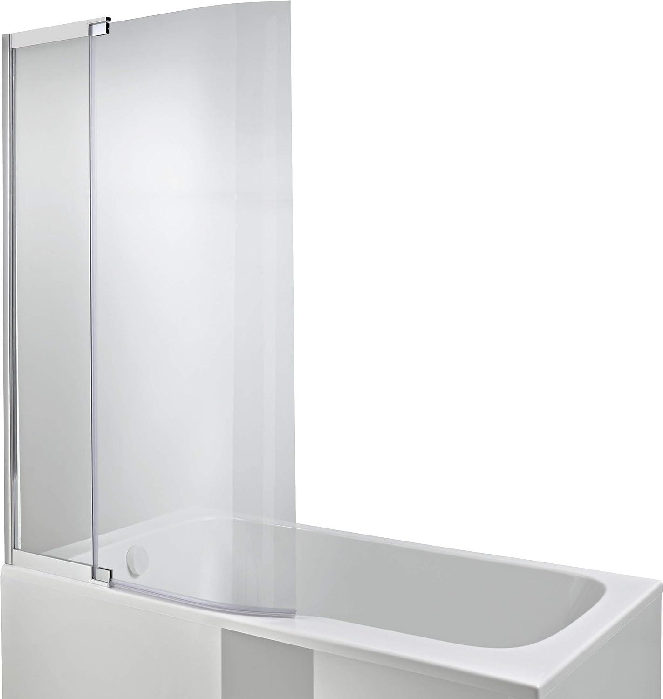 Jacob delafon malice - Mampara bañera baño-ducha cromo: Amazon.es ...