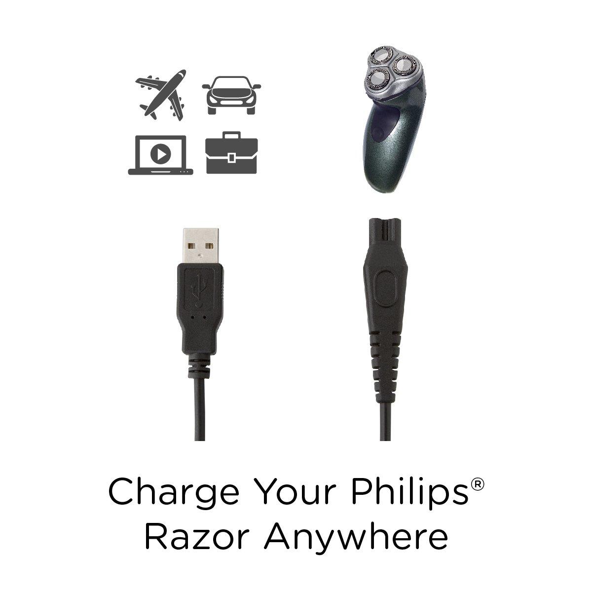 Amazon.com: Cable USB de carga para afeitadoras Philips ...