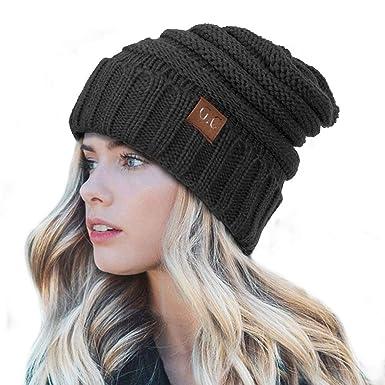 Tacobear Bonnet Souple Baggy Casquette Bonnet Chapeau Tricot Casquette Chapeau  Hiver Automne Bonnet Tricot Chapeau Chaud fa591340447