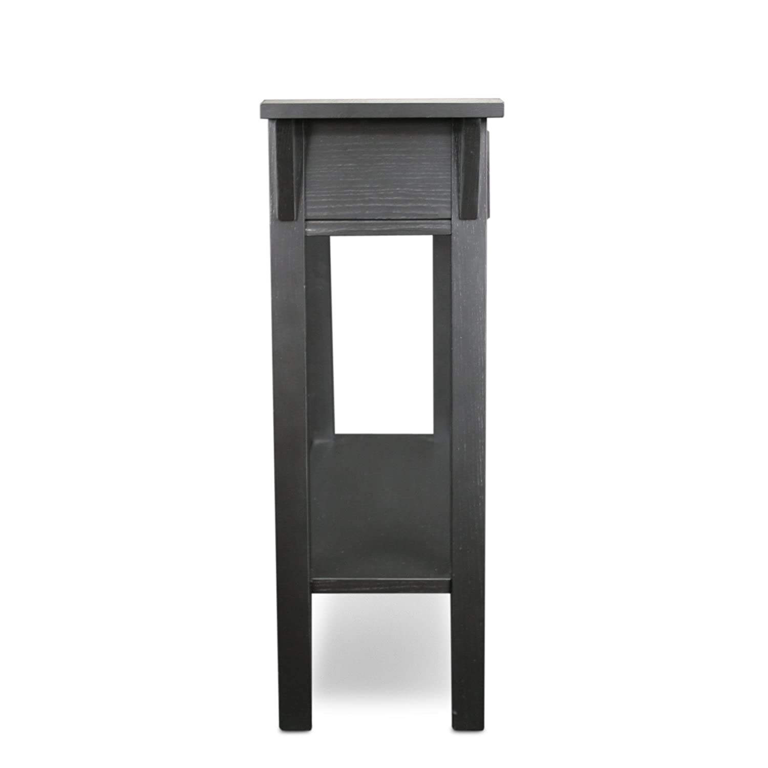 black hall console table. Amazon.com: Leick Mission Hall Console Table, Slate Black: Kitchen \u0026 Dining Black Table T