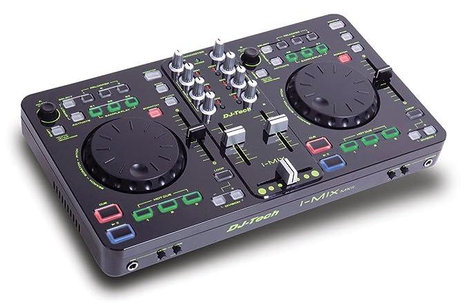 DJ-Tech I-Mix con la tarjeta de sonido USB-DJ-Mixer ...