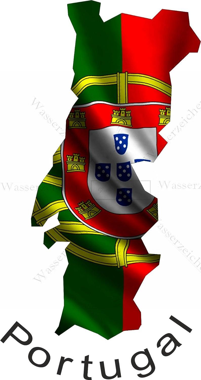 10cm Aufkleber-Folie Wetterfest Made IN Germany Brasilien Brasil UV/&Waschanlagenfest Auto-Sticker Decal Fahne Flagge Wappen Land FD20 Profi Qualit/ät bunt farbig Digital-Schnitt!