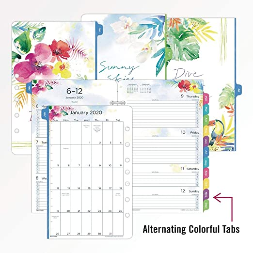 Kathy Davis for Day-Timer 2020 Weekly Planner/Appointment Book Refill, Two Pages Per Week, 5-1/2
