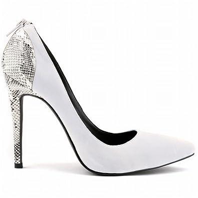 00d80ccc3891 La Mode Escarpins femme bout pointu talon haut chaussures talons aiguilles  noir rouge abricot