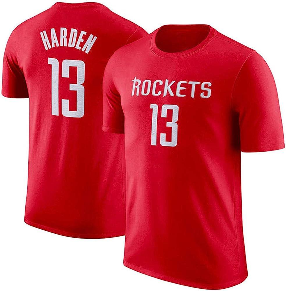 Camiseta NBA Houston Rockets James Harden Top Juvenil de Baloncesto cómodo para Hombre Manga Corta: Amazon.es: Ropa y accesorios