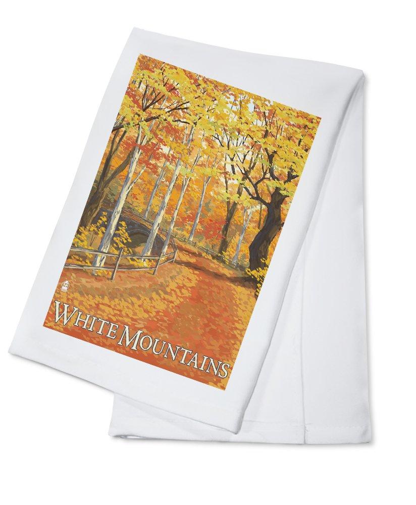 【激安大特価!】  White Mountains, Cotton New Hampshire - Fall Colors Colors (9x12 Art Press Print, Wall Decor Travel Poster) by Lantern Press B0184BDK5S Cotton Towel Cotton Towel, HIGH FASHION FACTORY:23b7e853 --- catconnects-ie.access.secure-ssl-servers.org