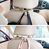 Woogor Universal Car Back Seat Headrest Hook Hanging Holder for Purse Bags Polybags Handbags Groceries (Pack of 2 Hooks)