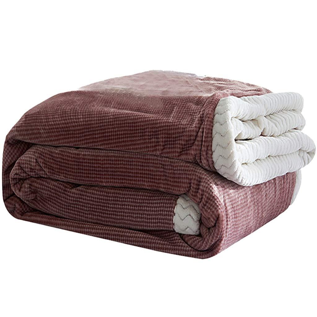 WJ ベッドリネン暖かい毛布、 A/Bフェイスミルクベルベットの毛布、 スロー、スーパーソフトブランケット、洗濯機、 150 * 200cm、180 * 200cm、200 * 230cm (サイズ さいず : 180 * 200cm) B07J45ZX38  180*200cm