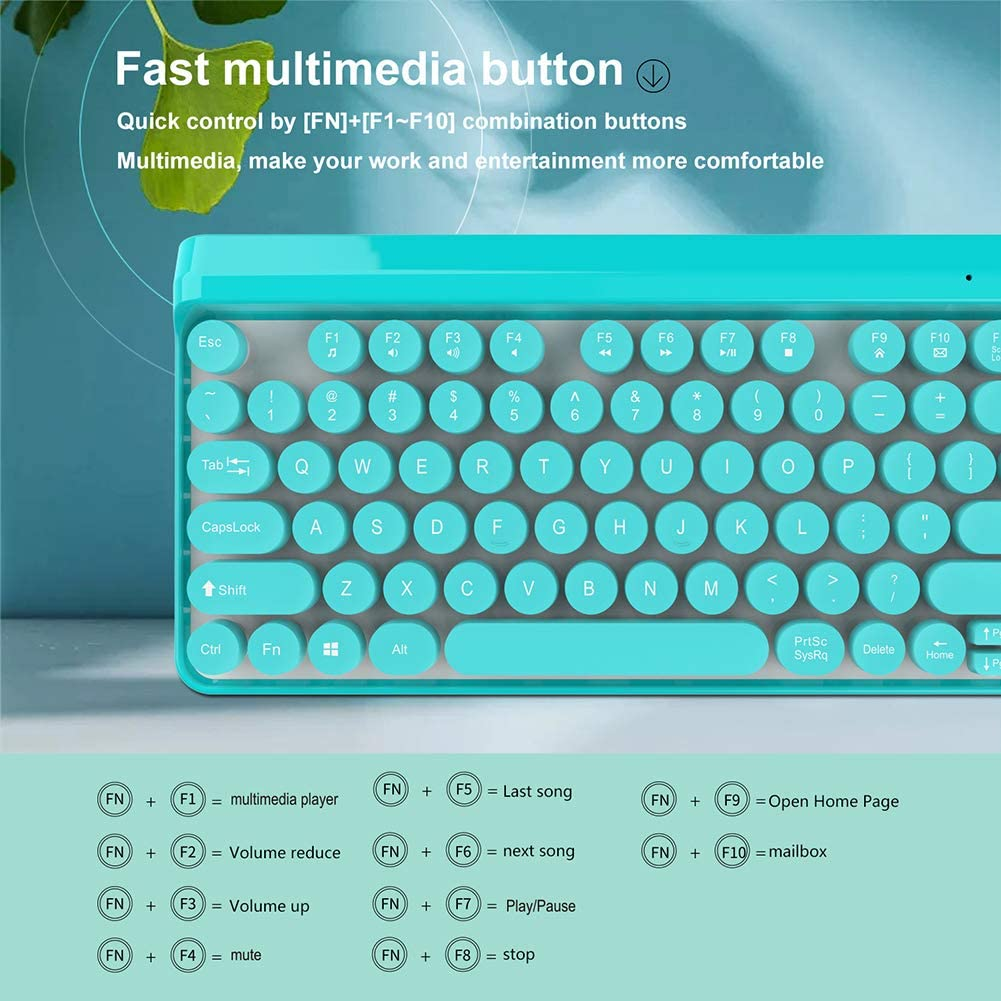 2.4G Wireless Keyboard Punk Keycap Ultra-Thin Mouse Mechanical Feel Computer Office Business Keyboard HLL Wireless Keyboard Set