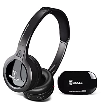 Bingle B616 multifunción estéreo auriculares inalámbricos auriculares con micrófono Radio FM para MP3 PC TV Audio Teléfonos: Amazon.es: Electrónica