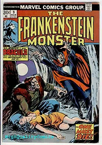 FRANKENSTEIN #9, FN, Monster of, vs Dracula, Buscema, 1973, Bronze age Horror - Spongebob Frankenstein