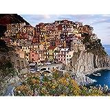 Italy, La Spezia, Cinque Terre, Manarola - Art Print on Canvas (32x24 inches, unframed)