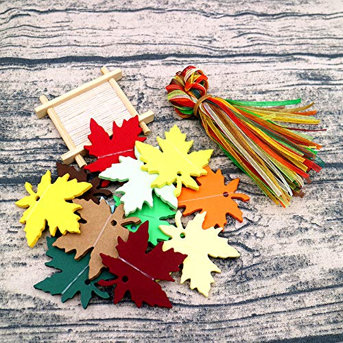 120 PCS Christmas Tags,Colorful Christmas Tree Gift Tags with Organza Ribbons,Thanksgiving Tags,Craft Hang Tags for Thanksgiving Christmas Party Favor