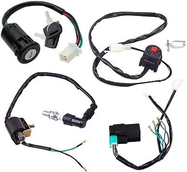 pit bike wiring harness amazon com triumilynn wire harness wiring loom cdi ignition coil  triumilynn wire harness wiring loom cdi