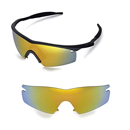 09616c56b4826 Walleva Replacement Lenses for Oakley M Frame Strike Sunglasses - Multiple  Options Available (24K Gold